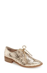 Seychelles 'Welcome Back' Oxford Women Gold Glitter