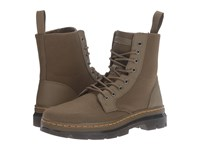 Dr. Martens Combs 8 Eye Boot Grenade Green 12Ox. Waxy Canvas Kanga Lace Up Boots Brown
