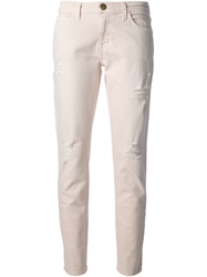 Current Elliott 'The Fling' Skinny Jeans Pink And Purple