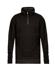 Mcq By Alexander Mcqueen Self Stowing Hood Cotton Sweatshirt Black
