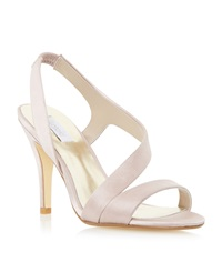 Untold Monrow Satin Asymmetric Strappy Sandals Mink