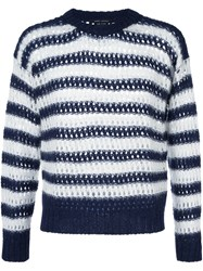 Marc Jacobs Striped Jumper Blue