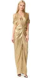 Zero Maria Cornejo Long Miu Dress Gold