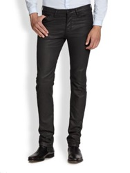 The Kooples Coated Straight Leg Jeans Black