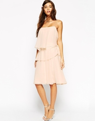 Asos Wedding Ruffle Dress With Tie Side Detail Cream