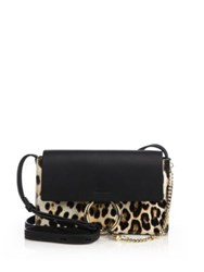 Chlo Faye Small Leopard Print Calf Hair And Leather Crossbody Bag