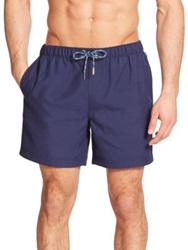 Original Penguin Solid Volley Swim Trunks Navy Scuba Blue Coral