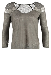 Naf Naf Onarma Long Sleeved Top Oil Green Khaki