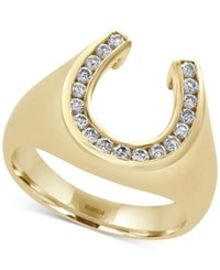 Effy D'oro By Men's Diamond Horseshoe Ring 3 8 Ct. T.W. In 14K Gold Yellow Gold