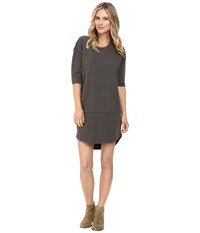 Alternative Apparel Lightweight French Terry Street Cred Dress Weathered Tarmac Women's Dress Black
