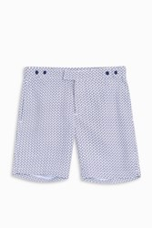 Frescobol Carioca Men S Wave Tailored Long Shorts Boutique1 Navy