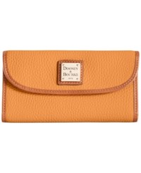 Dooney And Bourke Pebble Continental Clutch Melon