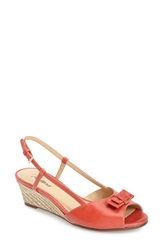 Trotters 'Milly' Wedge Sandal Women Red