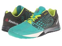 Reebok Crossfit Nano 5.0 Glass Green Black Semi Solar Yellow Chalk Women's Cross Training Shoes Blue