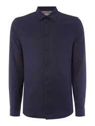 Linea Men's Lyon Russian Twill Shirt Navy