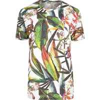 Only And Sons River Island Mens Green Print T Shirt