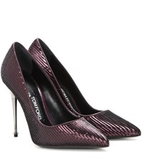 Tom Ford Sequinned Pumps Purple