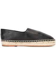 Opening Ceremony Leather Espadrilles Black