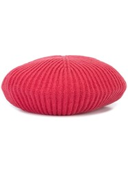 Moncler Ribbed Beret Red