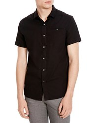 Kenneth Cole Short Sleeve Ripstop Shirt Black