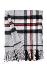 Amicale Plaid Throw Gray