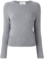 Zanone Round Neck Jumper Grey
