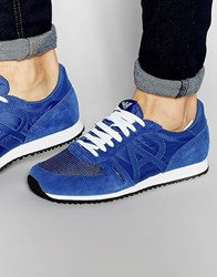 Armani Jeans Logo Runner Trainers Blue