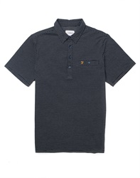 Farah Vintage Short Sleeve Jersey Polo Shirt With Textured Front