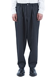 Oversized Twisted Flannel Pants Grey