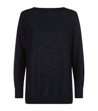 Les Copains Sequin Sweater Female Navy