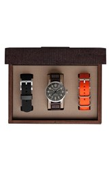 Men's Filson 'Mackinaw Field' Leather Strap Watch Box Set 43Mm