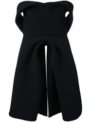 Brandon Maxwell Sweetheart Bodice Top Black