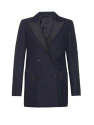 Blaze Milano Midnight Smoking J Class Wool Blazer Burgundy