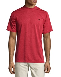 Callaway Jersey Logo Crewneck Tee Tango Red Heather