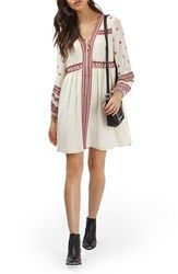 Topshop Women's Grecian Embroidered Peasant Dress