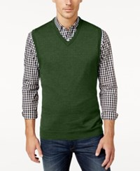 Club Room Men's Big And Tall V Neck Merino Wool Sweater Vest Only At Macy's Isle Of Pines