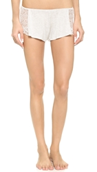 Only Hearts Club Venice Hipster Pajama Shorts With Lace Insets Opal Heather