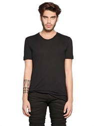 Diesel Black Gold Viscose And Wool Jersey T Shirt
