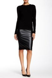 Fire Pleather Midi Bodycon Skirt Black