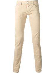Dsquared2 'Short Crotch Slim Bottom' Jeans Nude And Neutrals