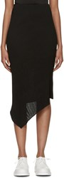Mcq By Alexander Mcqueen Black Pleated Asymmetrical Skirt