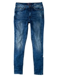 Violeta By Mango Super Slim Fit Andrea Jeans Open Blue