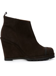 Chuckies New York Wedge Ankle Boots Brown