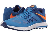 Nike Zoom Winflo 3 Fountain Blue Deep Royal Blue White Total Orange Men's Running Shoes Fountain Blue Deep Royal Blue White Total Orange