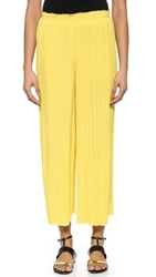 Cedric Charlier Long Pleated Pants Yellow