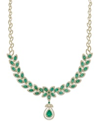 Effy Collection Brasilica By Effy Emerald 11 3 4 Ct. T.W. And Diamond 2 3 4 Ct. T.W. Pendant Necklace In 14K Gold