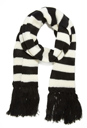 Forever 21 Striped Fringe Scarf