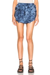 Thakoon Sac Shorts In Blue Ombre And Tie Dye