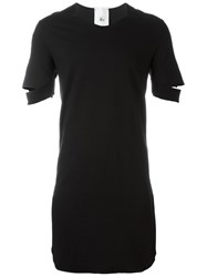 Lost And Found Rooms Cut Out Sleeves Long T Shirt Black