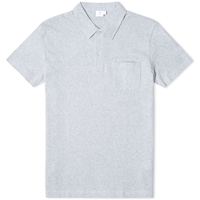Sunspel Riviera Polo Grey Melange